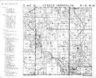 Trego Township - North, Brooklyn Township - South, Washburn County 1952